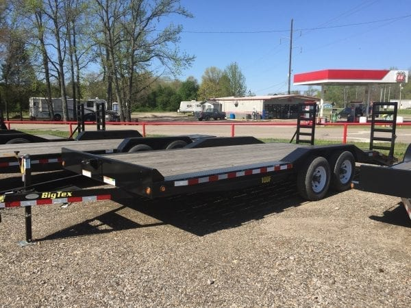 BigTex 10DF 20′ Equipment Trailer w/Drive over Fenders
