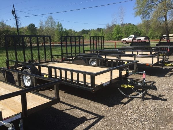 BigTex 35SA 14′ Utility Trailer w/Side Ramps