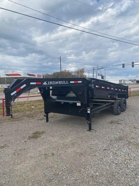 Ironbull 83″x14′ 14K Gooseneck Dump Trailer
