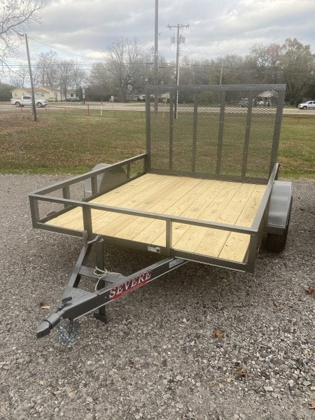 Severe 77″x8′ Utility Single Axle 4′ Ramp Gate Charcoal