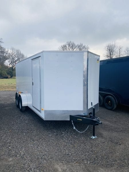 Covered Wagon 7×16 Tandem Axle White