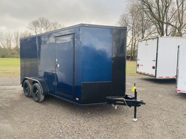 Covered Wagon 7×14 Tandem Axle Indigo Blue