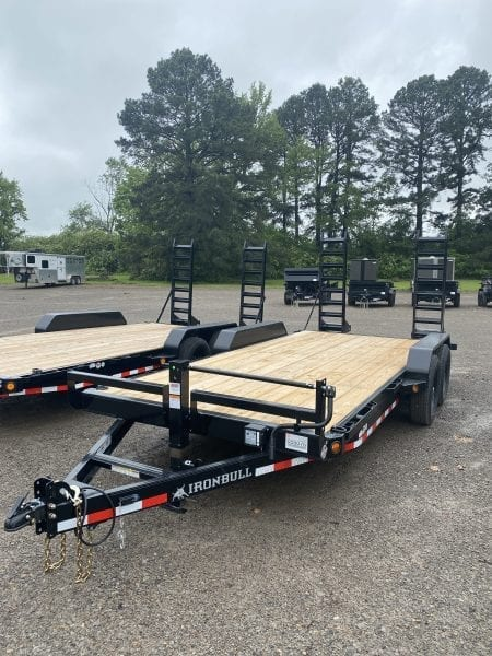 Ironbull 83″x18′ Equipment Trailer Stand up ramps 7K axles