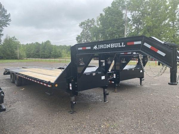 Ironbull 102″x30′ 22K Gooseneck Low-Pro Equipment Trailer 10K axles w/ Rampage Ramps