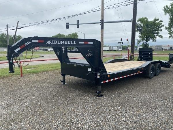 Ironbull ETG 102″x24′ Gooseneck 7K axles w/drive over fenders