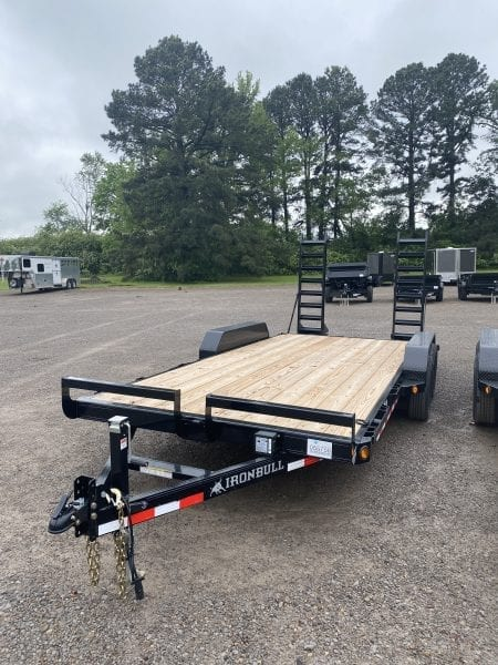 Ironbull 83″x18′ Equipment Trailer Stand up ramps 5,200lb axles
