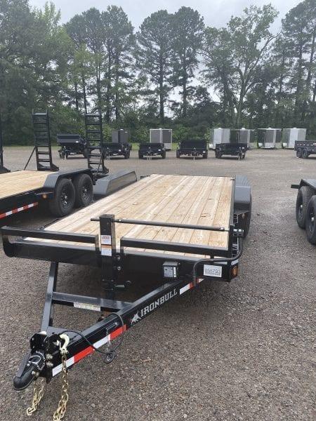 Ironbull 83″x18′ Equipment Trailer Straight Deck 7k axles w/slide-in ramps
