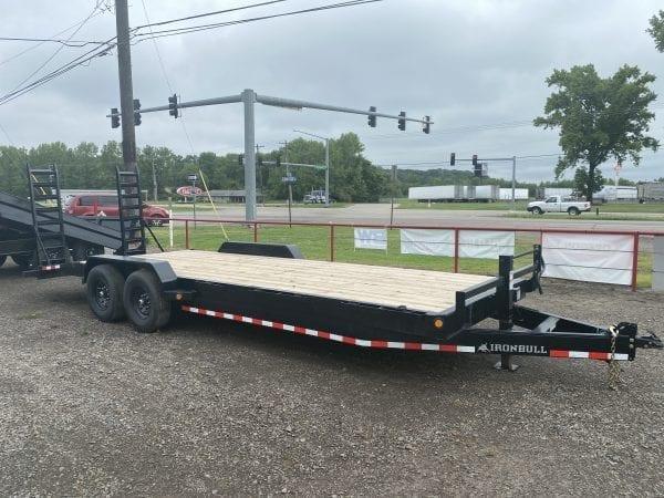 Ironbull 83″x24′ Equipment Trailer 7k axles w/stand up ramps
