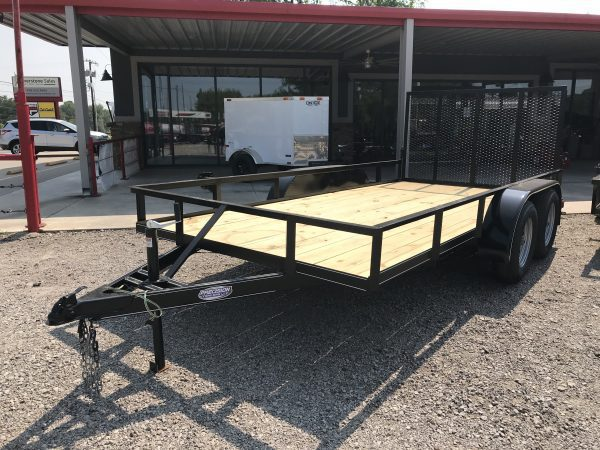 Precision 14′ Tandem Axel Utility Trailer with 4′ Ramp Gate